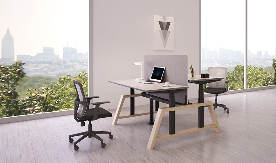 Electric lift table, adjustable height desk