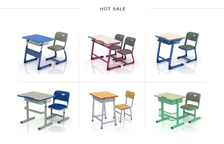 School Furniture Classroom Desk With Chairs
