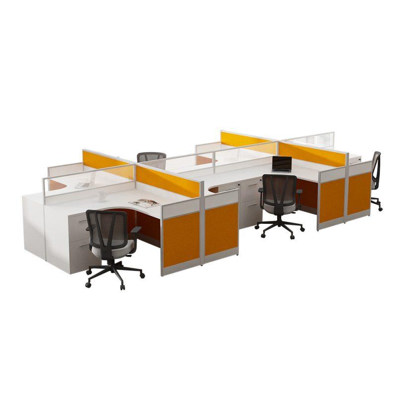 שולחן עבודה מודולרי מודרני לתחנת עבודה