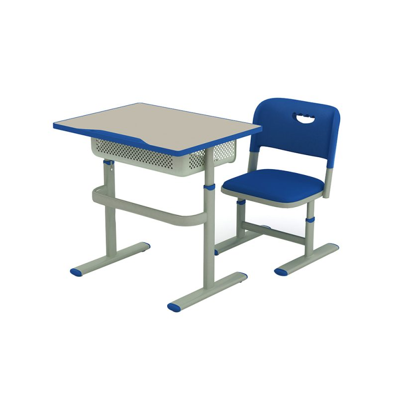 Adjustable Single School Desk And Chair