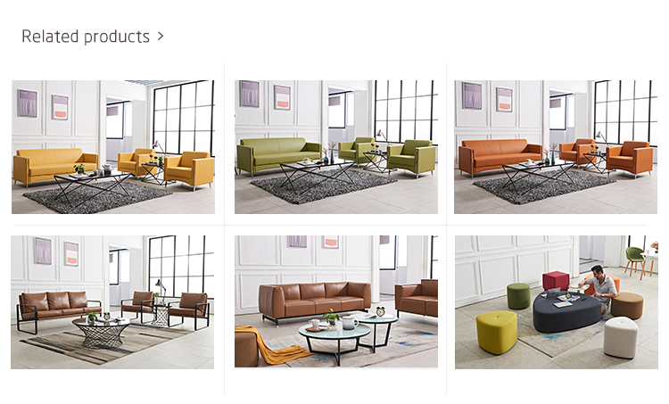 Leather Office Sofa Set