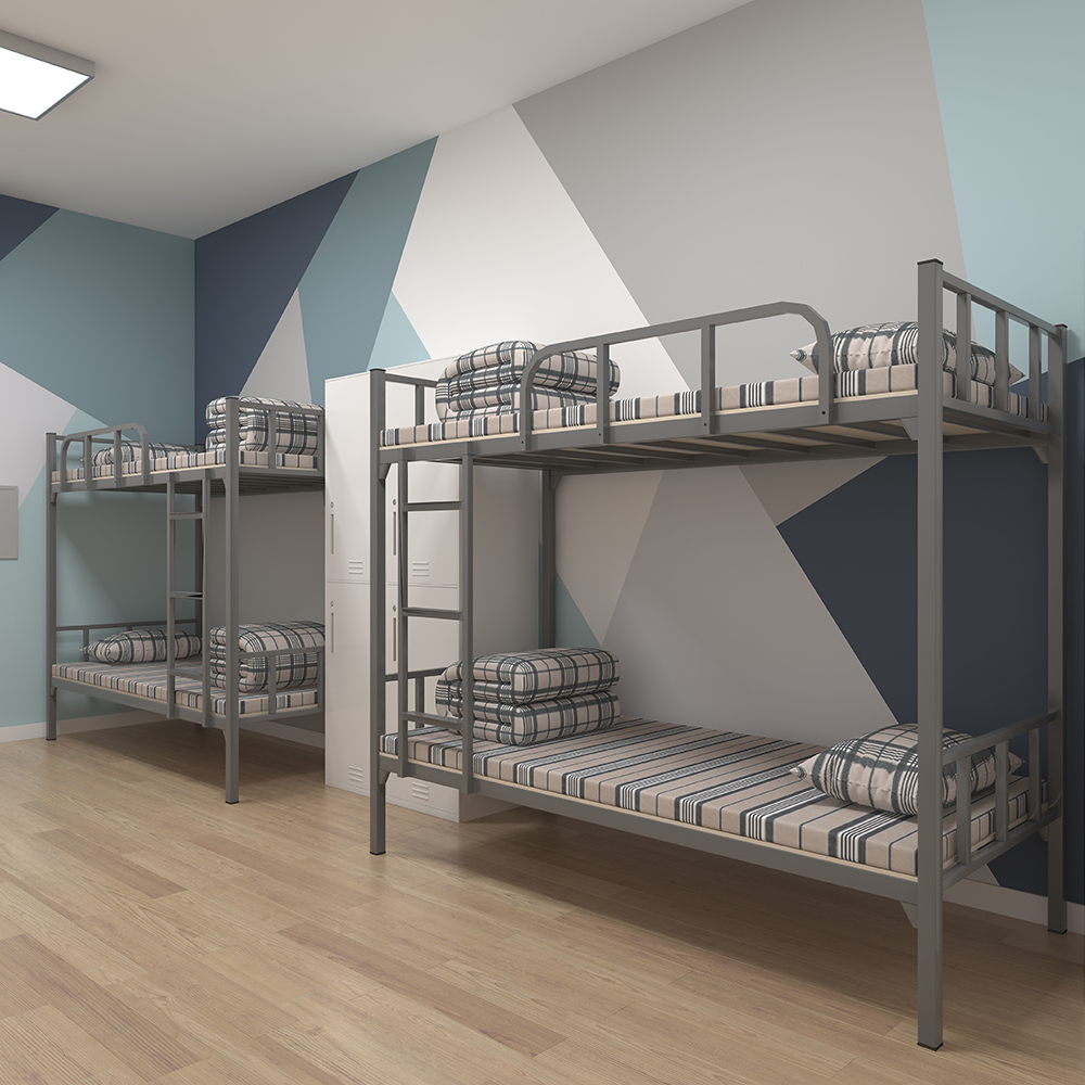 School Metal Bunk Bed Modern School Furniture Metal