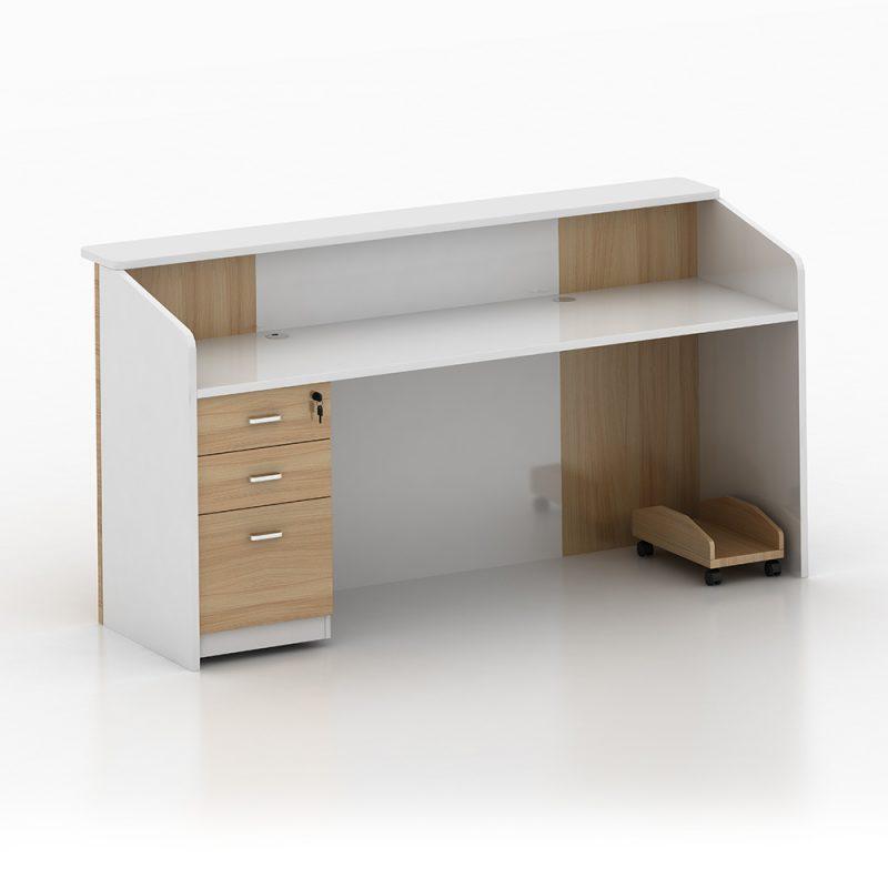 White Salon Reception Desk
