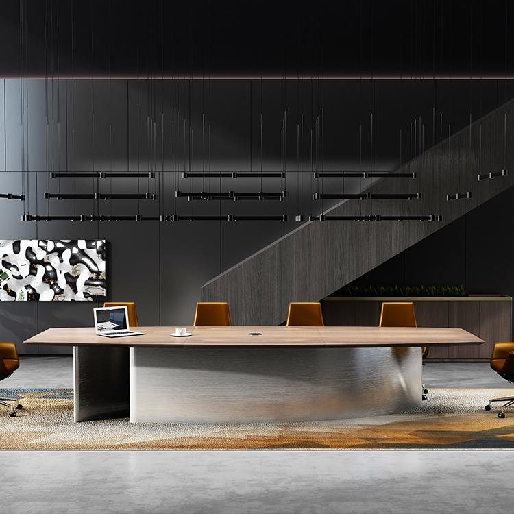 שולחן ישיבות מודרני בחדר ישיבות