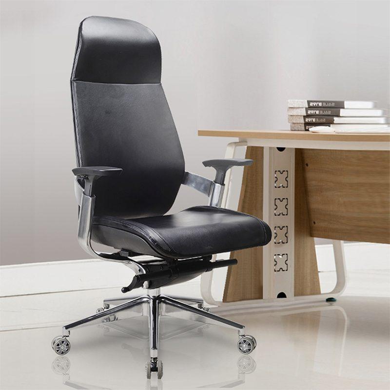 כיסא משרדי עור ארגונומי