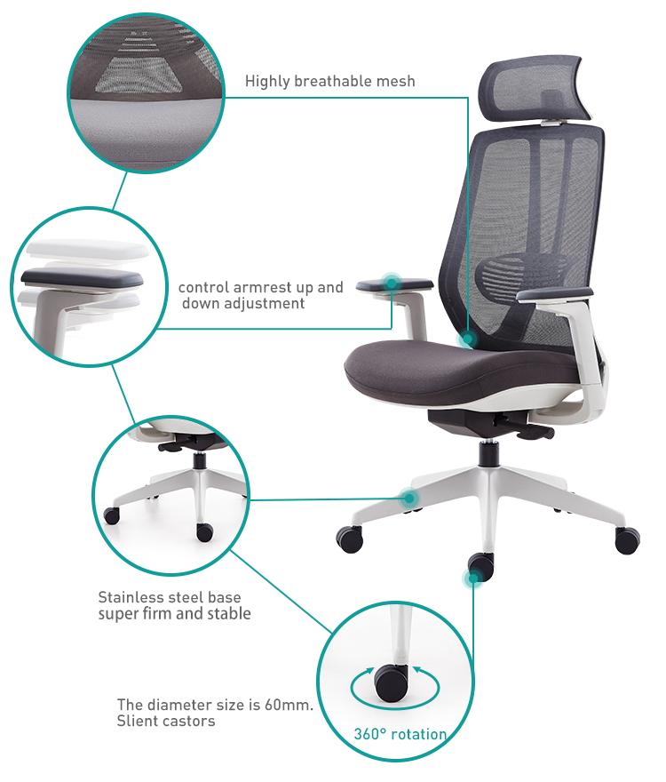 כיסא משרדי גב גבוה
