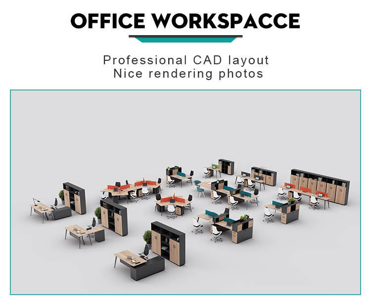 4 Person Office Workstation WARNOCK-ZYY-008